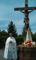 26 foot high Crucifix Grotto at Rosa Mystica of American, Edmenston New York
