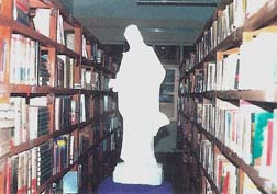 Library, donate seminary's books, theology and philosophy.