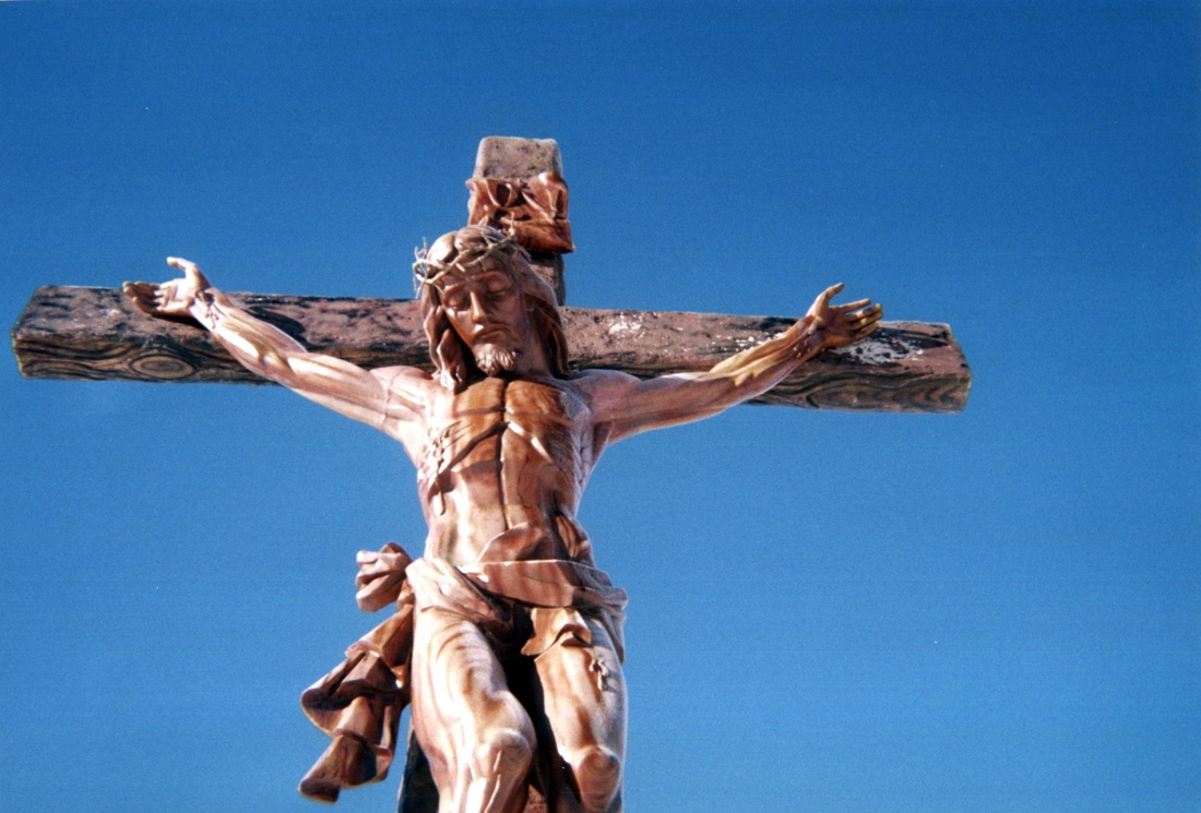 Rosa Mystica's 26 foot high crucifix, Jesus Christ, Jesus, The Son of God